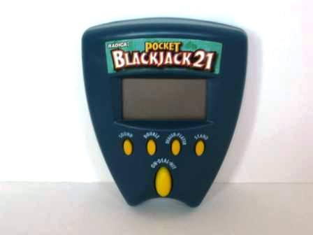 Pocket Blackjack 21 (Blue) (1999) - Handheld Game